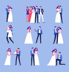 wedding celebration ceremony marriage vector image
