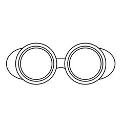 Welding glasses icon outline vector