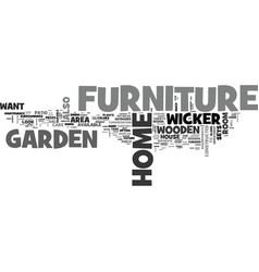 What is home and garden furniture text word cloud vector