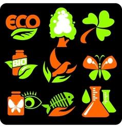 ECO - Green Life - set vector image vector image