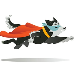Flying super hero dog in the fly vector image vector image