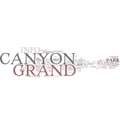 grand canyon info text background word cloud vector image