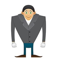 Broad shoulders office man vector