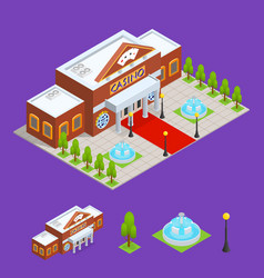 casino building and part isometric view vector image vector image