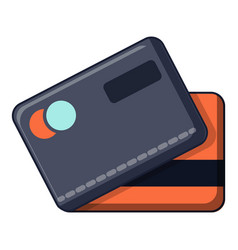 credit cards icon cartoon style vector image vector image