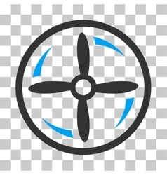Drone Screw Rotation Icon vector image vector image