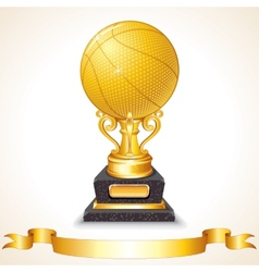 Golden Basketball Cup vector image vector image