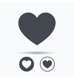 Heart icon Romantic love sign vector image vector image