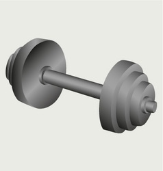 Dumbbell weight vector image