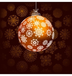 Elegant christmas background EPS8 vector image vector image