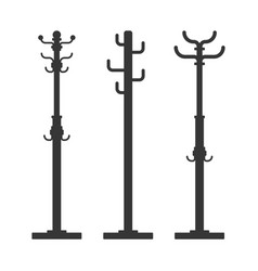 floor clothes hanger icons set vector image