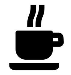 Hot beverage icon vector image vector image