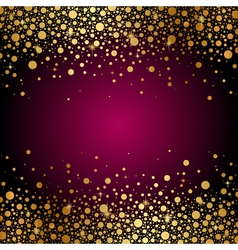 maroon background gold sparkles vector image vector image