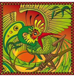 phoenix on the branch vector image