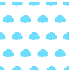 seamless pattern from cloud thought blue with vector image vector image