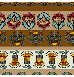 Seamless pattern with images of flowers vector image vector image