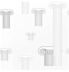 classic columns seamless background roman vector image vector image