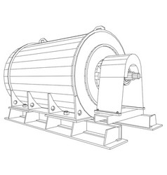 industrial equipment oil and gas motor created vector image