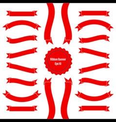 Ribbon Banner Set 2 Red vector image
