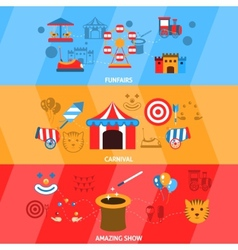 Amusement Park Banner Set vector image