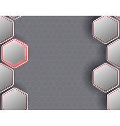 background consists of a honeycomb vector image