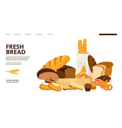 bakery landing page vector image