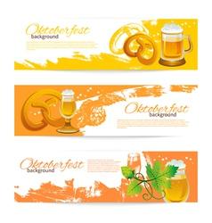Banners of oktoberfest beer design vector