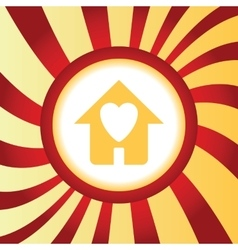 Beloved house abstract icon vector
