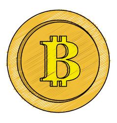 Bitcoin electronic money icon vector
