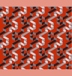 black and red geometric stripe labyrinth pattern vector image