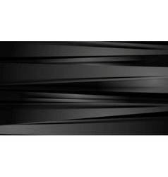 Black smooth stripes corporate abstract background vector