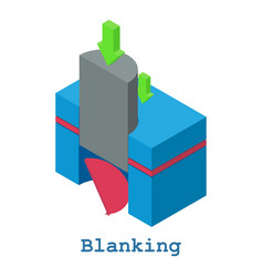 Blanking metalwork icon isometric 3d style vector