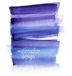 Blue watercolor background for your design vector