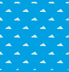 Canadian mountains pattern seamless blue vector