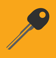 Car key flat icon on background vector
