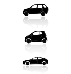 Cars silhouettes 2 vector image