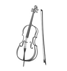 cello outline icon vector image