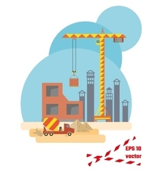 Construction site flat style vector