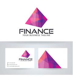 Digital finance logo design vector