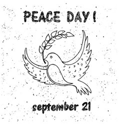 Dove peace with a twig vector