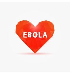 Ebola virus in poly heart vector image