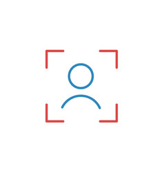 Face id facial identify scanning face linear icon vector