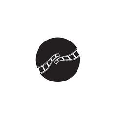 film strip icon template vector image