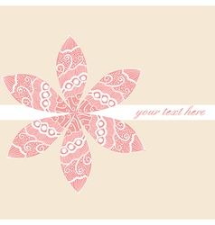 Floral greeting card with place for your text vector
