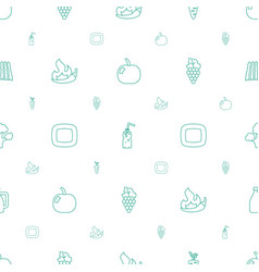 Fresh icons pattern seamless white background vector