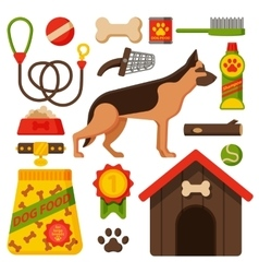 funny german shepherd dog vector image