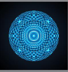 Geometric eye mandala colorful design element vector