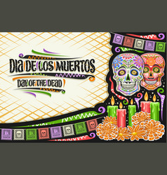 greeting card for dia de los muertos vector image