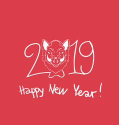 happy new year boars year 2019 vector image