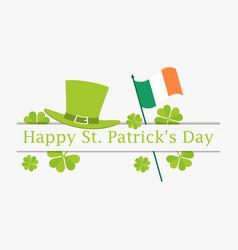 happy st patricks day flag of ireland green vector image